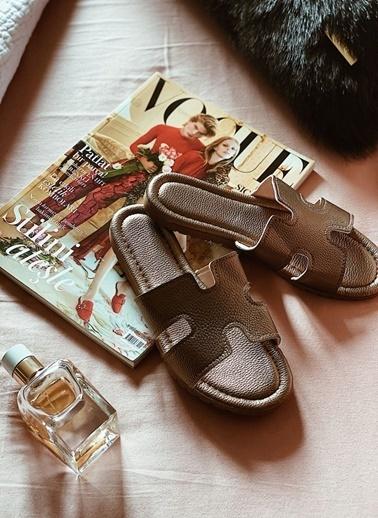 Arma Shoes Kadın Home&Away Terlik Bronz